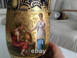 Pair Of Vases 19th Vienna Porcelain