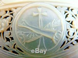 Pearl Shell Carved And Jerusalem Ajoure Religious Resurrection 19th Siec 2