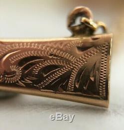 Pen Knife Miniature Brooch Vendetta Corsa Scabbard Gold Silver Pearl C2492
