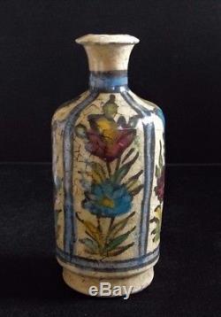 Persian Ceramic Earthenware Qajar Pottery Persian Islamic Vase Iznik Kajar 19th C