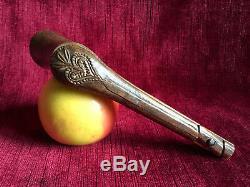 Pipe Case Carved Wood Decor Revolutionary Breton Folk Art Late Nineteenth
