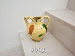 Pitcher Terracotta Glazed Pottery Popular Art Languedoc 19th S