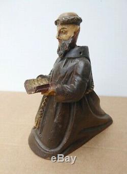 Polychrome Wood Bell, Eighteenth, Religious Folk Art, Capuchin Monk