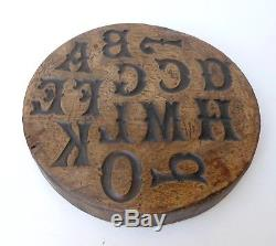 Popular Art Mold Carved Wood, Alphabet Art Nouveau, Art Bistrot