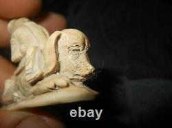 Popular Art Object/nackoon Caricature/curiosite Cabinet/os Sculpte