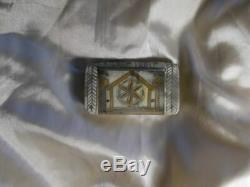Popular Art Tabatiere In Horn & Brass Format Little Book XIX Eme