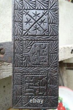 Rare 17th Century Wrought Iron Gaufrier Dated 1622 Lilies Flowers Markings