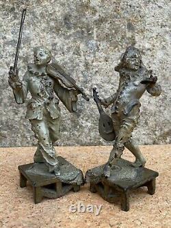Rare 2 Street Musicians / Plomb Of Nuremberg Polychrome / Very Anciens