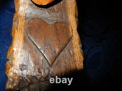 Rare Ancient Sonnaille Bell Goat Provencal Clavelas Wood Cytise Beating Bone