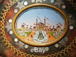 Rare And Beautiful Old Wallet Remembrance 1878 World Expo Nineteenth