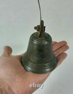Rare Bronze Bell Master Fondeur Jean Dubois At Puy 17th Or Early 18th