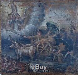 Rare Ex Voto Drowning Dated 1794 France Folk Religion Vow God Prayer