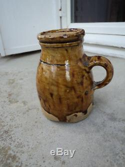 Rare Feeding Bottle Sandstone Puisaye Xixth Folk Art