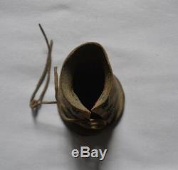 Rare Folk Art Object Old Shoe For Child Foot Bot XIX