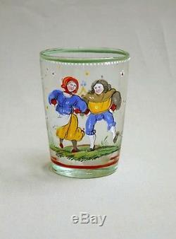 Rare Gobelet X6 XVII / XVIII In Glass Enamel, Alsace, Boheme, Switzerland Fluhli