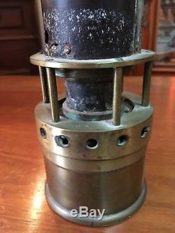 Rare Grayoummetric Miner's Lamp French Miners Lamp Popular Art 1890