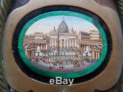 Rare Micro Mosaic Ancient Rome St. Peter Mosaic Micromosaic Micromosaic