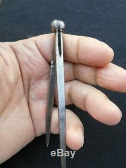 Rare Miniature Tool Compas Nuremberg Folk Art Work Control 10.5 CM