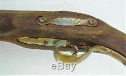 Rare Old Gun-time High Wrought Iron Flint 18 Th XVIII Th Barrel Deco