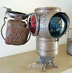 Rare Railway Signaling Lantern Chicago 1906