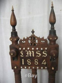 Rare Statue Door, Wedding Saddle, Brittany 1884
