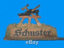 Rare Teaches Cobbler Wrought Iron 19th Former Shoe Tools