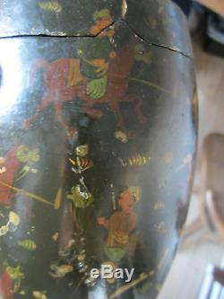 Rare Tobacco Art Qajar Qalamdan Persian Perse Iran Xixth Paper Mache Pain