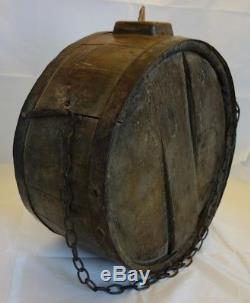 Rare Wholesale Wood Barrel XIX Wood / Deco Folk Art / Wine Oenology
