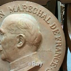 Rare Ww2 Plate The Marshal Petain F Cogne Edited By Vuitton Terracotta 41 CM