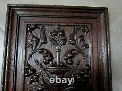 Renaissance Style Oak Panel. High Epoch, Carved Wood, Woodwork, Decoration