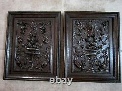 Renaissance Style Oak Panels. High Epoch, Carved Wood, Woodwork, Decoration
