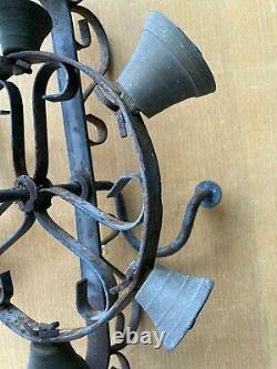 Roue To Carillons Guerison Wrought Iron Bells Popular Art Pagan Church XIX