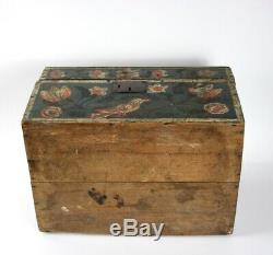 Safe With Polychrome Painted Marriage Normandy Early Nineteenth Art Norman People