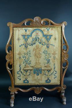 Screen Fireplace Wood Fireplace Carved Tapestry Regence Time Screen 18 Thc