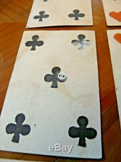 Set Of 23 Very Old Playing Cards Or 19th Century 18th Fleur De Lys