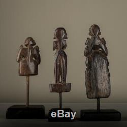 Set Of Twelve Figures Gujarat India. 19th. Folk Art
