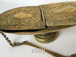 Shuttle A Incense Copper Copper Cover Book Religious Incense E398