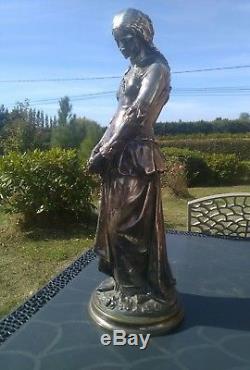 Silver Bronze Woman Signed Émile Boisseau 1842-1923