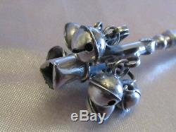 Silver Rattle Eighteenth 18th Whistle Bells 44 Grams