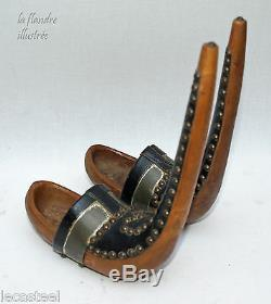 Small Pair Of Wooden Shoe Bethmale Early 20th Folk Art