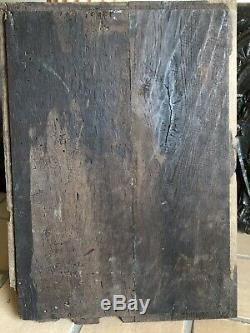 St. Barbara, Panel Haute Epoque Carved Wood, Renaissance, Sixteenth Seventeenth