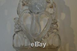 Stoup Blown Glass End XVIII Century Manufacture Royale La Margeride