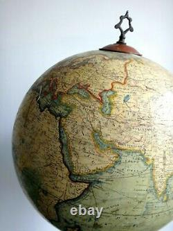 Stunning Globe J Lebegue World Map Rue De Lille Paris Pied Fonte XIX
