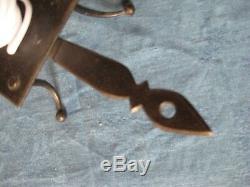 Superb 18th C. Steel Wax Jack Candlestick. Wax-jack Wrought Iron Eighteenth