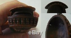 Superb In Tabatiere Corozo Shaped Galion Eighteenth Century / Ultra Rare