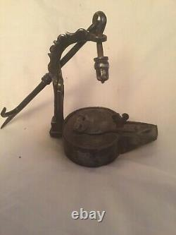 Superb Iron Oil Lamp From The Middle Ages, Ancient, Ancient