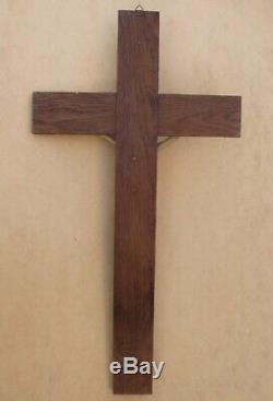 Superb Large Napoleon III Wooden Wall Crucifix
