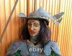 Superb Old Musket Ring Puppet In Armor
