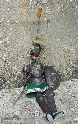 Superb Old Rod Puppet Knight In Armor