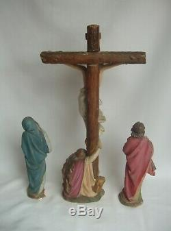 Superb Set Of 3 Religious Statues Plaster Late Nineteenth Century